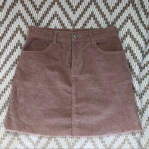 PacSun Corduroy Skirt — Slightly high waisted